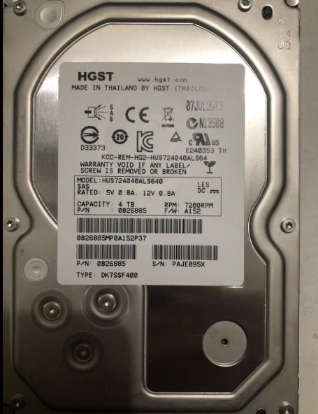 0B26890 HDS 4TB 7.2K SAS 64MB Cache 6Gb/s 3.5 hard drive